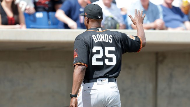 Bonds Dusts Off Swing, Cracks Home Run During BP in Giants' Camp