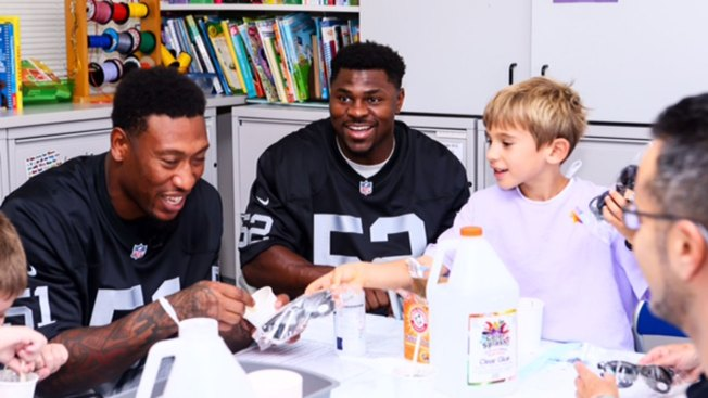 Sunday They Took an L, But Raiders D-line Bounces Back at Children's Hospital