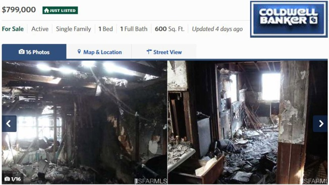 Burned San Francisco House Hits Market For Whopping $800,000