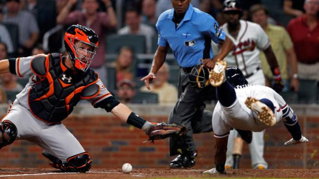 Giants Blanked by Braves in Seventh Straight Loss