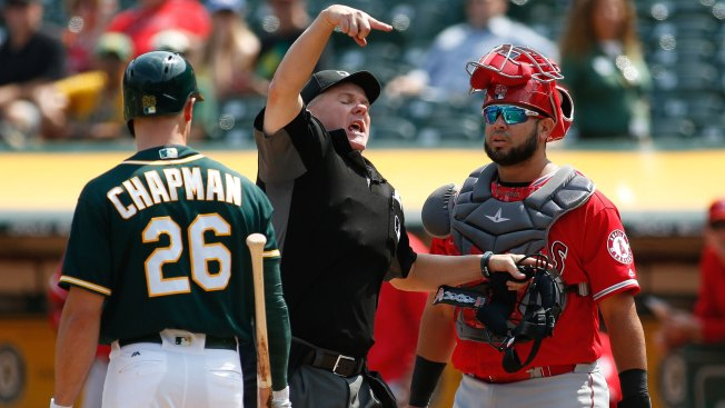 Manaea sharp, Davis homers as A's top Angels