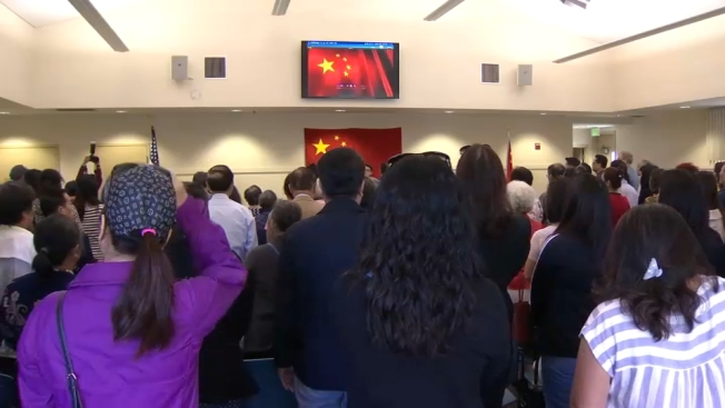 Gathering in Millbrae for Celebration of China Met With Protest