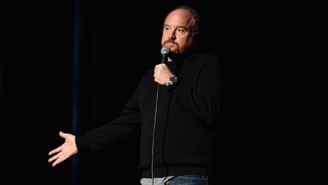 Group Protests Sold-Out Louis CK Show in Pouring Rain