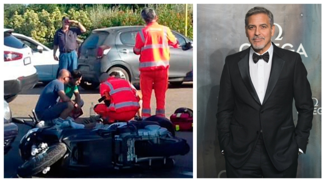 Italian Driver Describes How Clooney's Scooter 'Slammed' His Car
