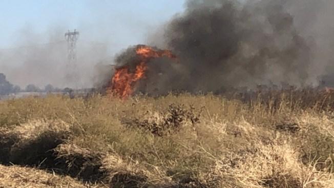 Fire Crews Battle Fast-Moving Brush Fire Near Brentwood