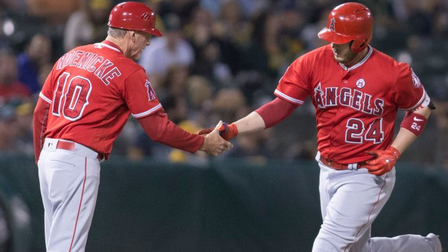 A's Fall to Angels in Extras Again, Skid Hits Eight
