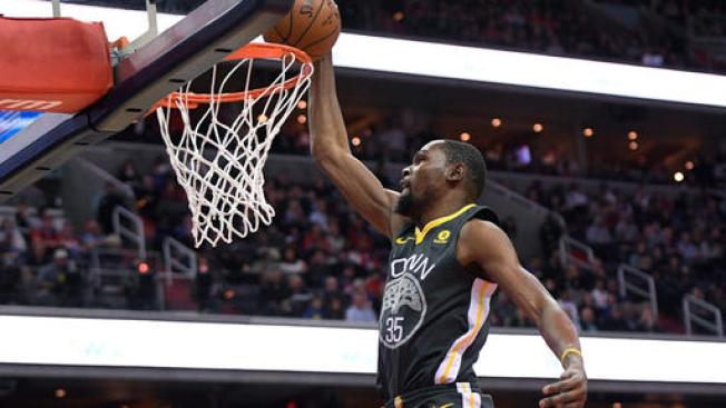 Durant Has Happy Homecoming, Leads Warriors Past Wizards