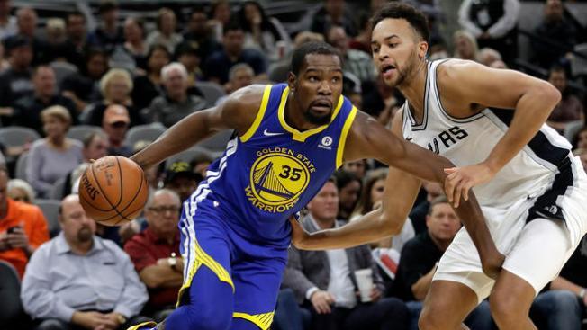 Golden State Warriors (4) - (5) San Antonio Spurs [3-2] Durant-spurs-ap