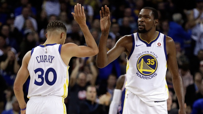 Warriors' Stephen Curry, Kevin Durant out for Tuesday's game vs. Kings