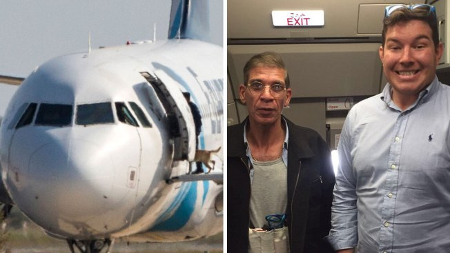 Passenger Poses for Photo With Accused EgyptAir Hijacker