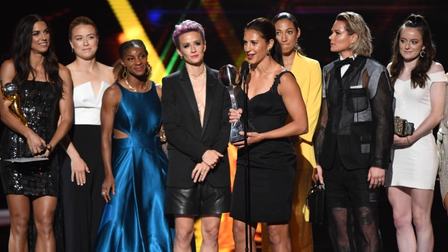 Alex Morgan, US Women's Soccer Team Honored at The ESPYS