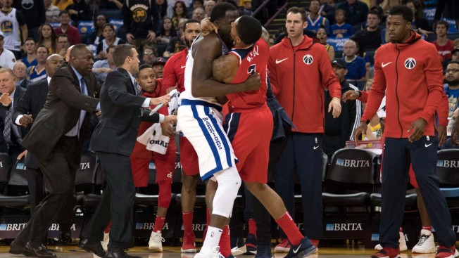 Image result for Warriors' Draymond Green ejected after skirmish with Wizards' Bradley Beal