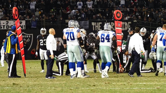 Derek Carr fumbles into end zone to give Cowboys win over Raiders
