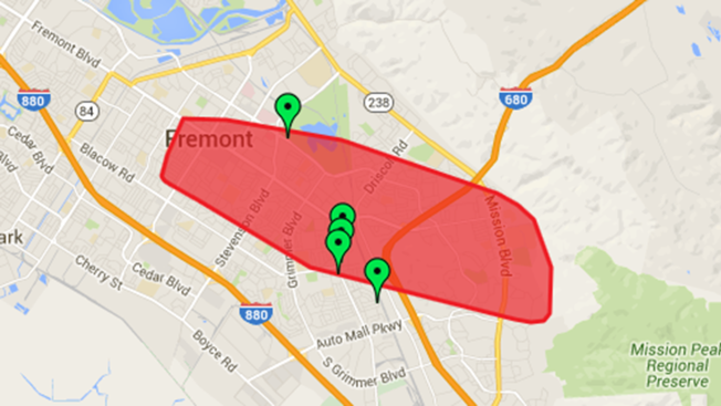 Power Restored After Outage Affects More Than 11,000 PG&E Customers in Fremont