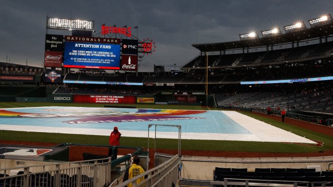 Giants-Nationals game rained out