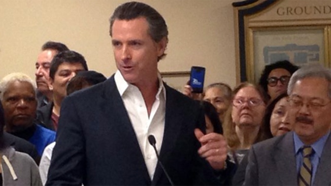 California Lt. Governor Gavin Newsom Welcomes Baby Boy