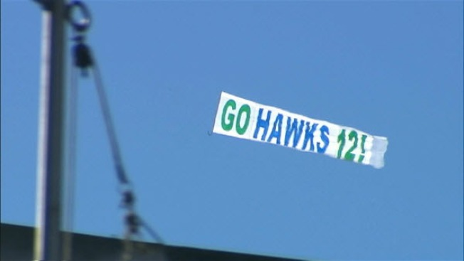 Seattle Fans Pay For 'Go Hawks' Banner Over Candlestick Sunday
