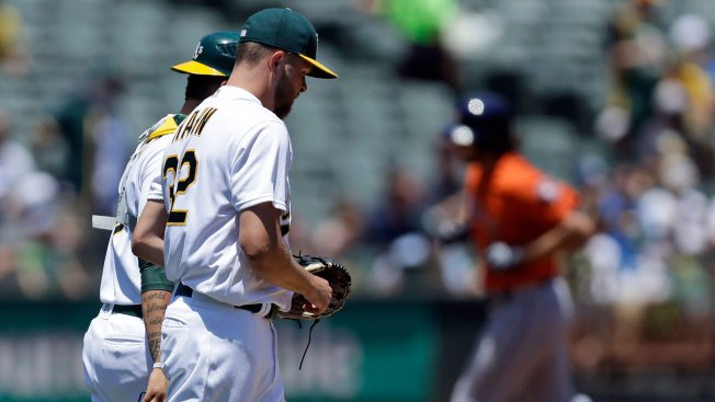 Reddick's big day lifts Astros over Athletics 12-9