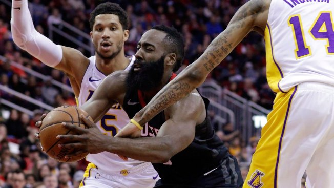 Rockets' James Harden out for two weeks with hamstring strain