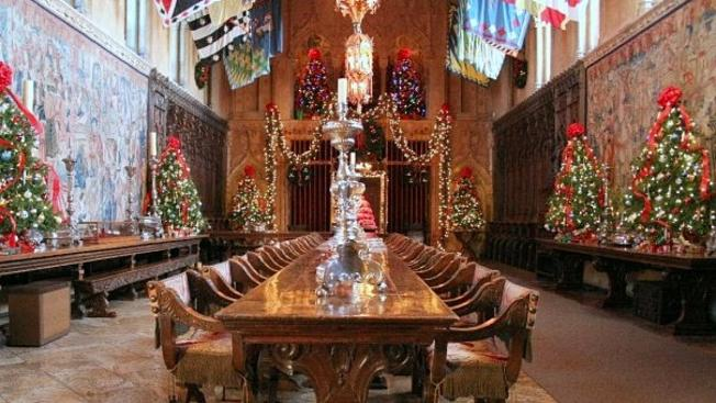 Admire Hearst Castle's Holiday Finery by Evening Light