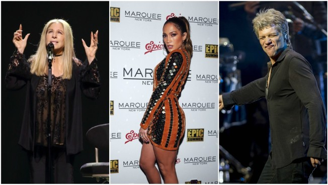 Bon Jovi, Jennifer Lopez, Barbra Streisand Among Celebrities Fanning Out For Clinton