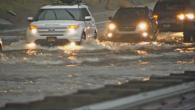 Multi-Vehicle Crash, Flooding Close Lanes on Highway 85 in San Jose