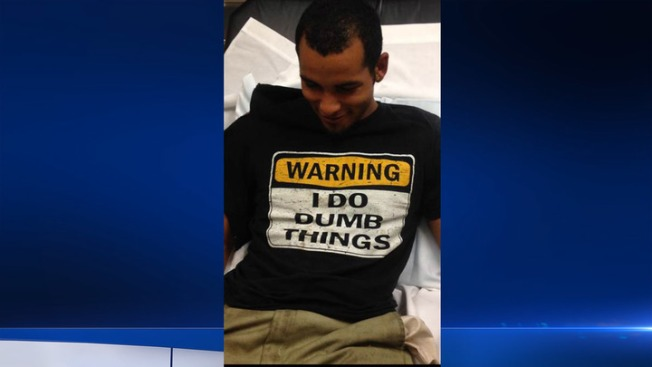 Alleged Auto Thief Arrested in 'I Do Dumb Things' T-Shirt
