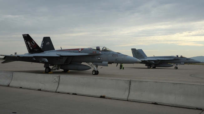 Car Chase Ends With Crash Into Jet at California Naval Base