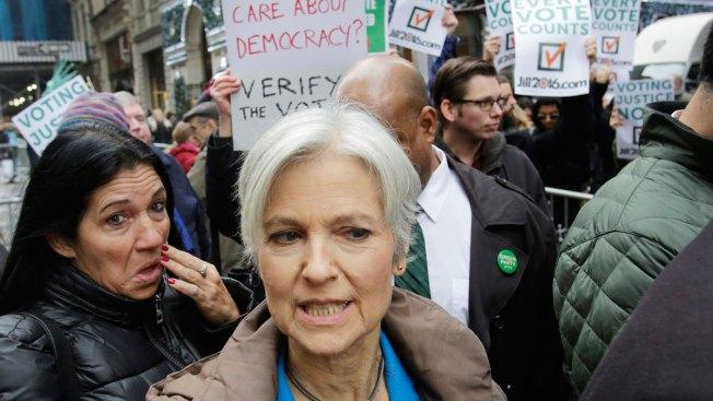 Michigan Recount Begins, Stein Speaks Outside Trump Tower