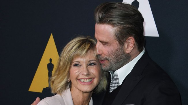 John Travolta and Olivia Newton-John Reunite for 'Grease' 40th Anniversary Celebration