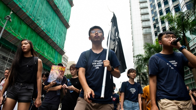 Hong Kong Democracy Activists Get Bail, Protest March Banned