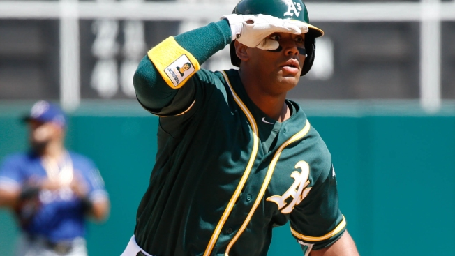 A's Crush Three Homers, Blow Out Rangers in Finale