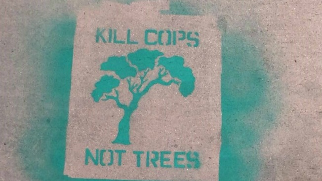 'Kill Cops, Not Trees' Graffiti Sprayed in Santa Cruz