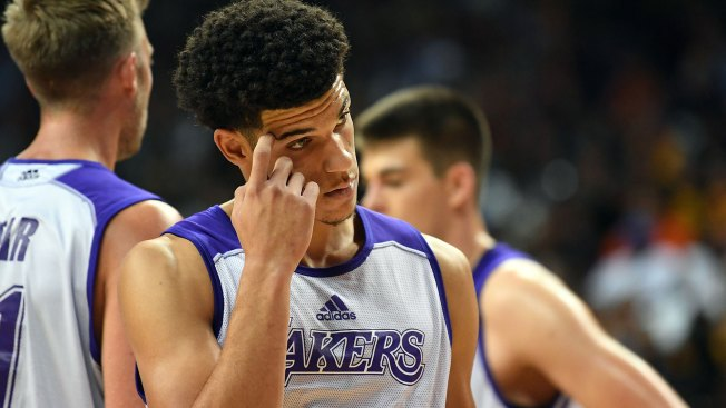 Ball exits Lakers' Summer League game