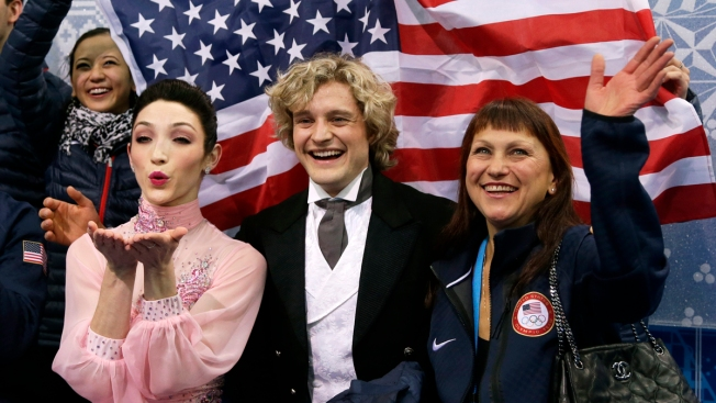 Davis and White Give U.S. Medal Hopes in Team Figure Skating