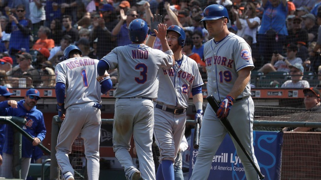 Syndergaard Pitches 2-Hitter for 1st CG, Mets Top Giants 4-1