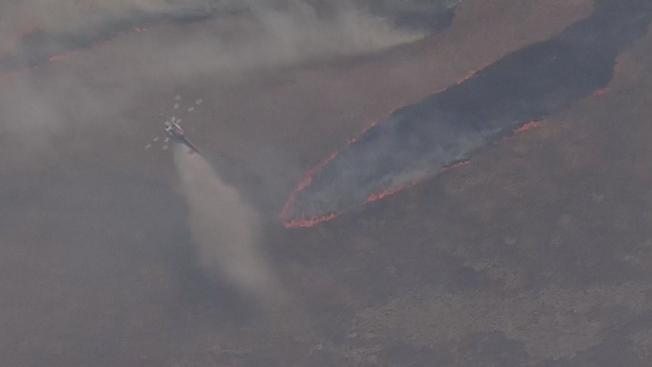 Brush Fire Spreads Quickly South of San Jose Off Highway 101
