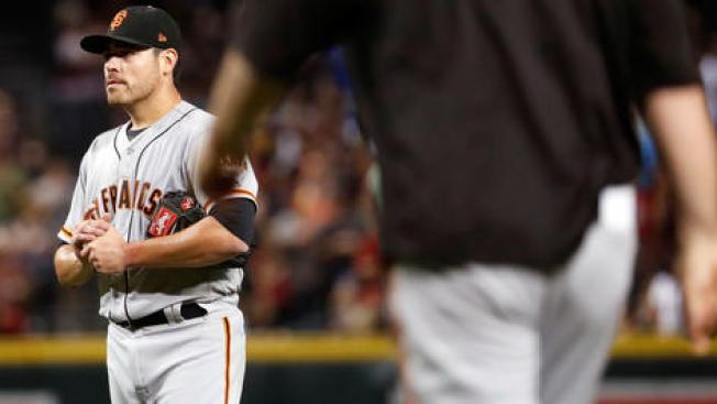 Moore Rocked by Diamondbacks, Giants Lose Big
