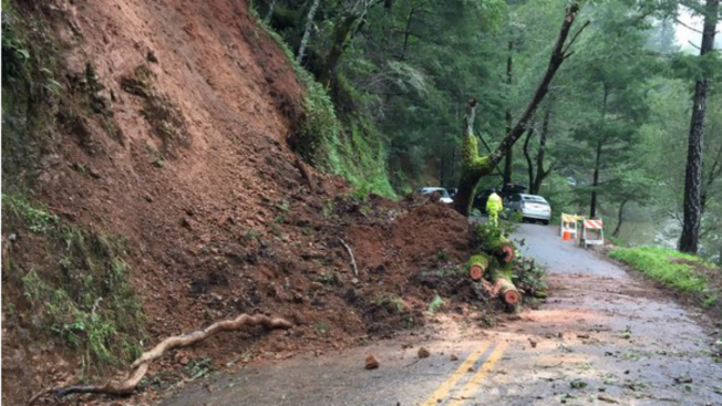 Mudslides Cause Bolinas-Fairfax Road to Close on Mt. Tamalpais For Weeks