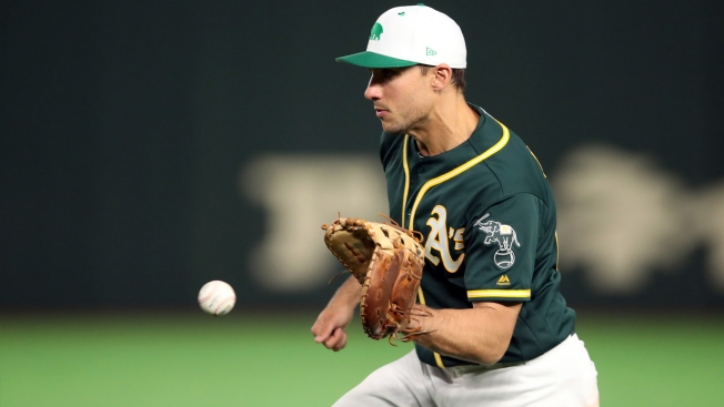 A's Matt Olson Joins Impressive Group of Home Run Hitters Saturday Night