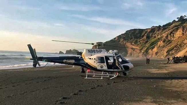 Woman, 18, in Critical Condition After Vehicle Plunges Over Pacifica Cliff
