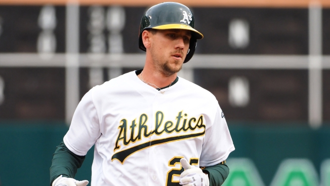 A's Stephen Piscotty Calls Out Fan Who Ran on Field, Attempted to Steal Hat
