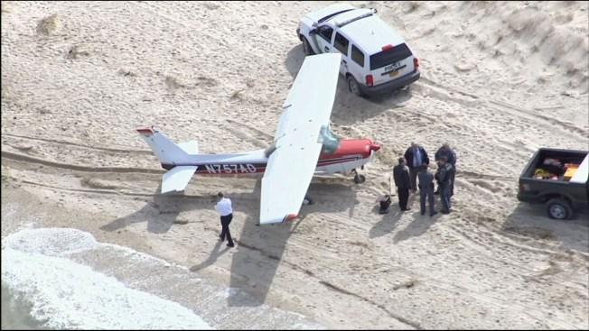 Plane Makes Emergency Landing on Long Island Beach