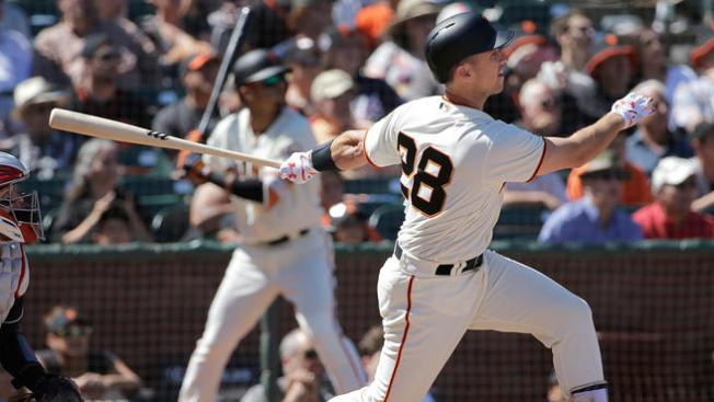 BAY SE CSNBY]Posey Comes Through in a Pinch, Lifts Giants Over Indians