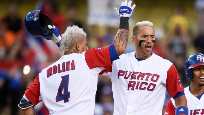 sports baseball world classic puerto rican players bonding dying hair blond