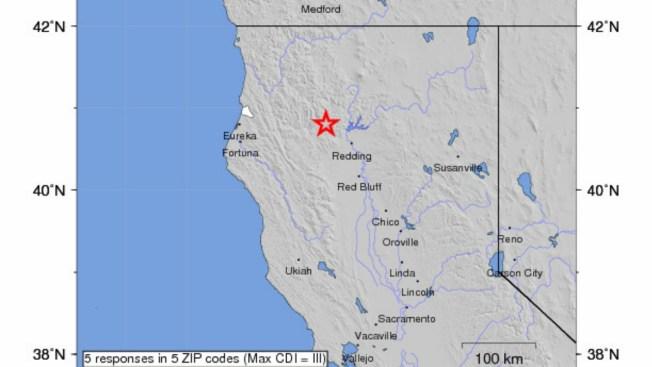 USGS Mistakenly Reports Magnitude Earthquake Near Redding - Nearest earthquake area us map