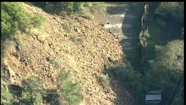 Rockslide Traps Residents in Scotts Valley