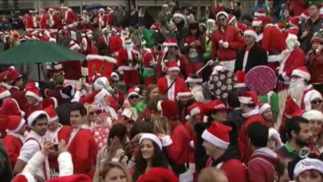 Union Square Holds SantaCon