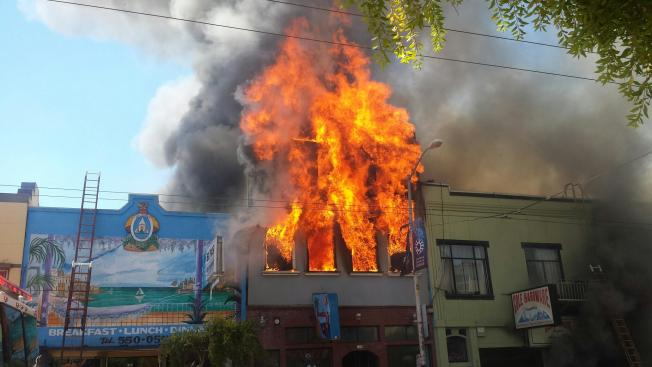 Firefighters Contain 2-Alarm Fire in San Francisco's Potrero Hill