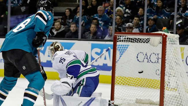 Labanc Lifts Sharks Over Canucks in Overtime